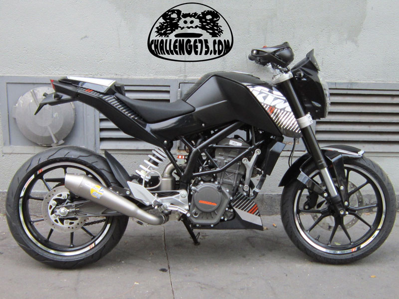 Ktm duke 125 kit deco chrome