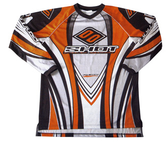 SHOT Maillot FLEXOR orange taille L 2 pour 29€ !!