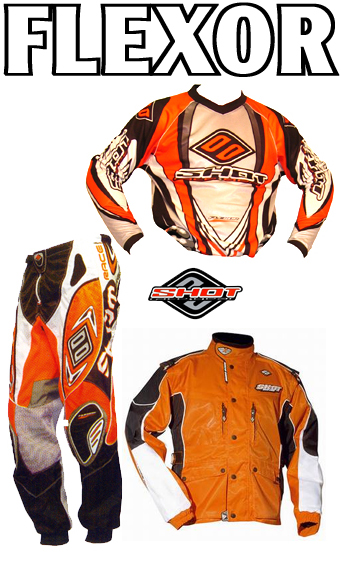 SHOT Pack Enduro Flexor Orange pant 32 maillot L