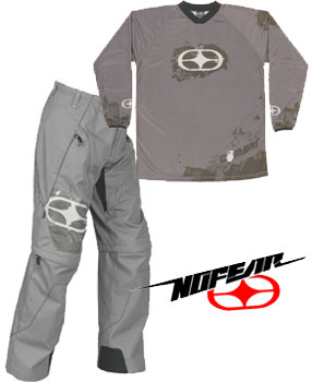 NO FEAR Pack Combat  Gris Taille 26 ou 36us