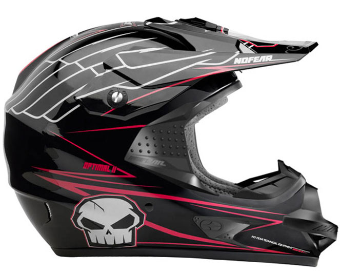 NO FEAR casque OPTIMAL 2 EVO RACE black energy