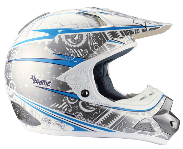 NO FEAR Casque PRIME EVO paisley white