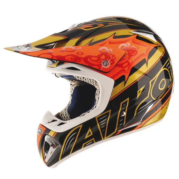 AIROH Casque STELT Factory noir/orange
