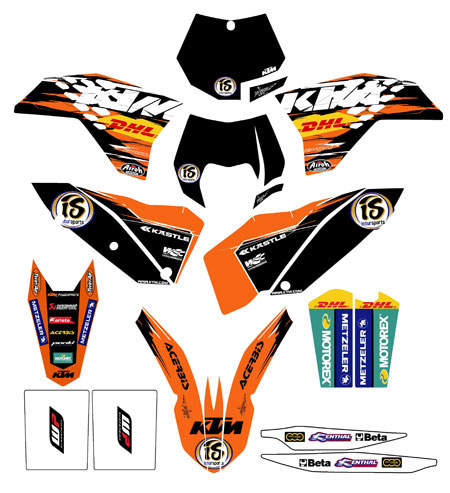 KTM KIT DECO Factory graphic kit 2010