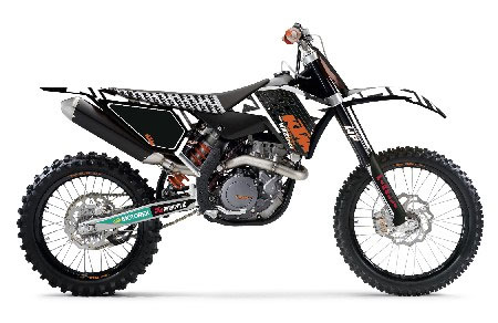 KTM KIT DECO  Racing graphic kit black