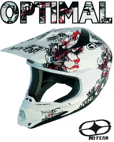 NO FEAR casque OPTIMAL 2 EVO phantom red