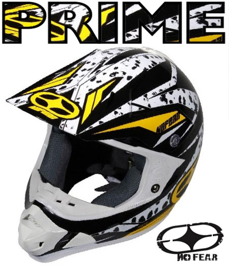 NO FEAR Casque PRIME EVO Yellow noise