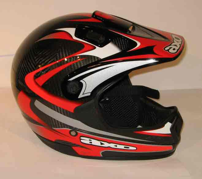 AXO Casque MX3 carbone rouge XS