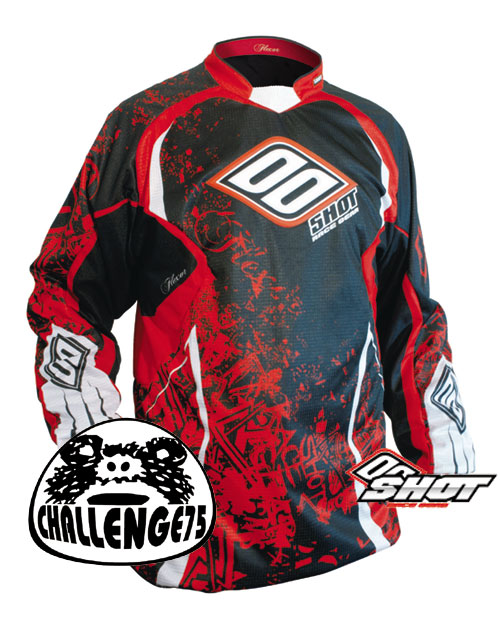 SHOT Maillot Flexor 2008 trash-rouge