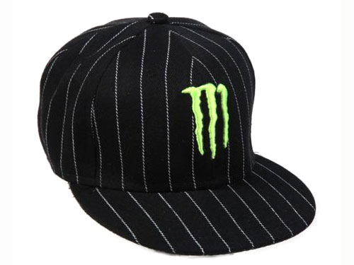 MONSTER  casquette STRIPE black