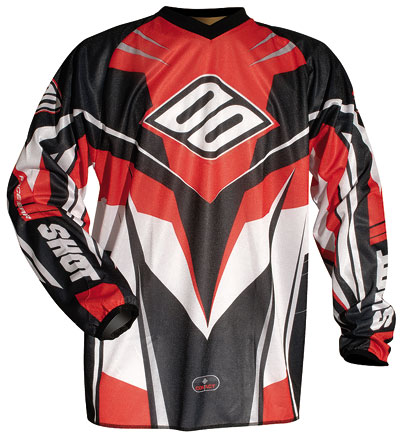 SHOT Maillot CONTACT 2006 rouge Tailles XL 2XL 3XL