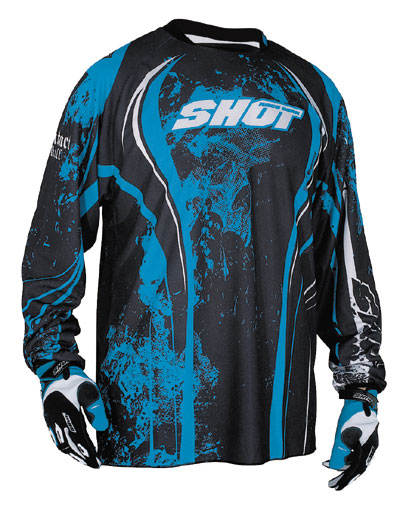 SHOT Maillot KID Contact  2009 skull bleu