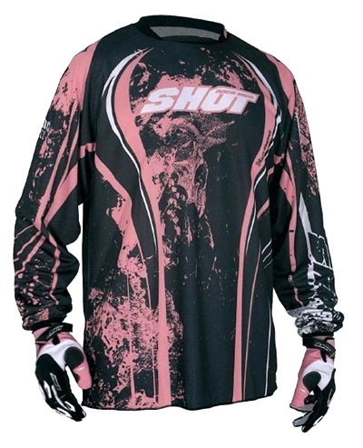 SHOT Maillot CONTACT 2009 skull rose Taille XL
