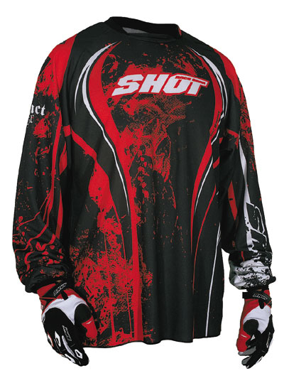 SHOT Maillot CONTACT 2009 skull rouge Tailles 2XL 3XL