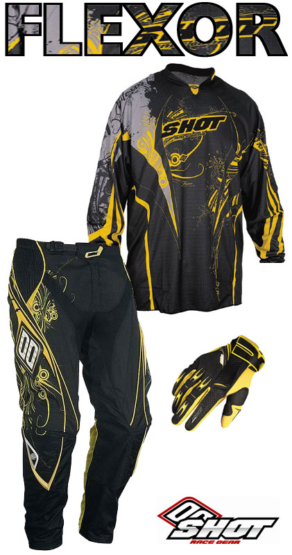 SHOT pack FLEXOR 2009 ABYSS jaune