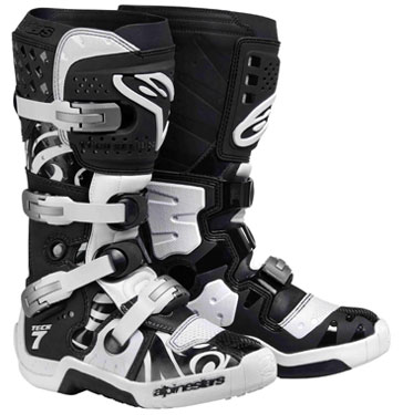ALPINESTARS BottesTECH7 black white swirls 2011