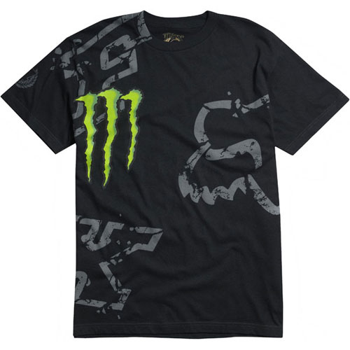 FOX MONSTER Tshirt  RC Replica DOWN FALL noir 2011 Taille L