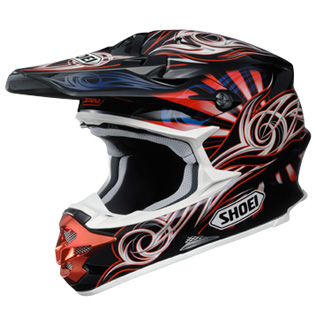 SHOEI VFX-W ILLUSION TC1 rouge