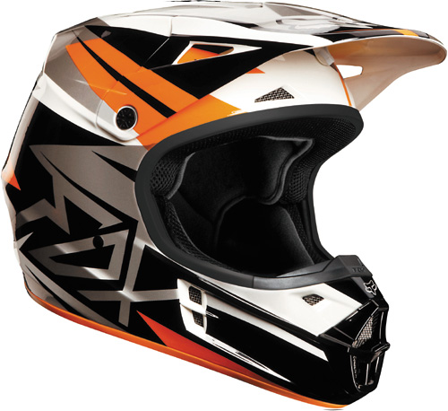 Fox casque V1 2013 orange