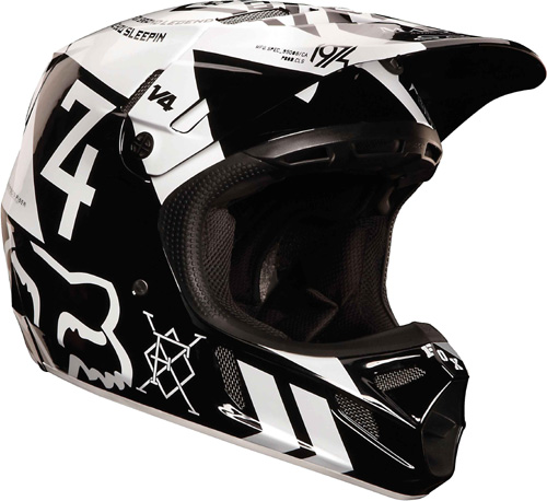 FOX casque V4 2013 MACHINA noir