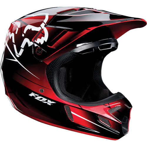 FOX casque V4 2013 rouge