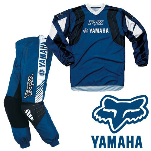 FOX YAMAHA Pack kid  180° blue/navy