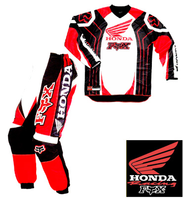 FOX HONDA Pack kid 180° blanc
