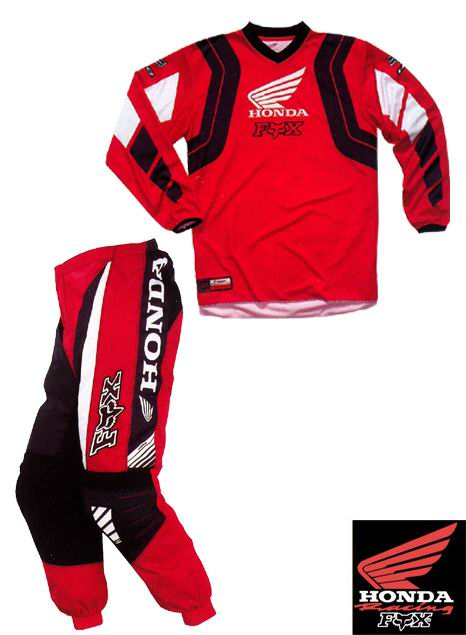 FOX HONDA Pack kid 180° rouge