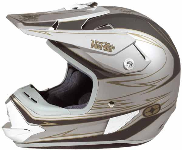 NO FEAR Casque Optimal Lowbrau Silver