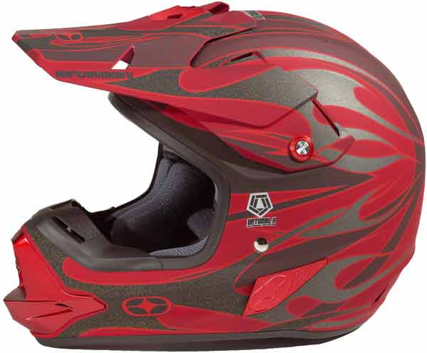 NO FEAR Casque Optimal Red Mat