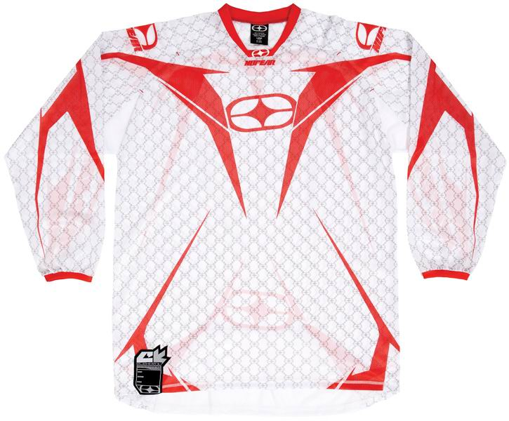 NO FEAR Maillot Elektron Red/White Monogram XL ou XXL ref 7002