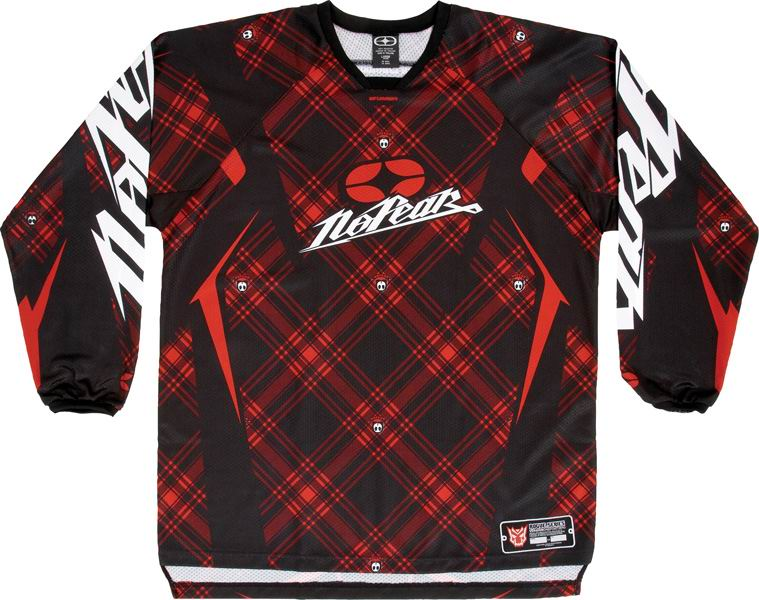 NO FEAR Maillot Rogue Red Plaid Taille XL et XXL ref 7002*