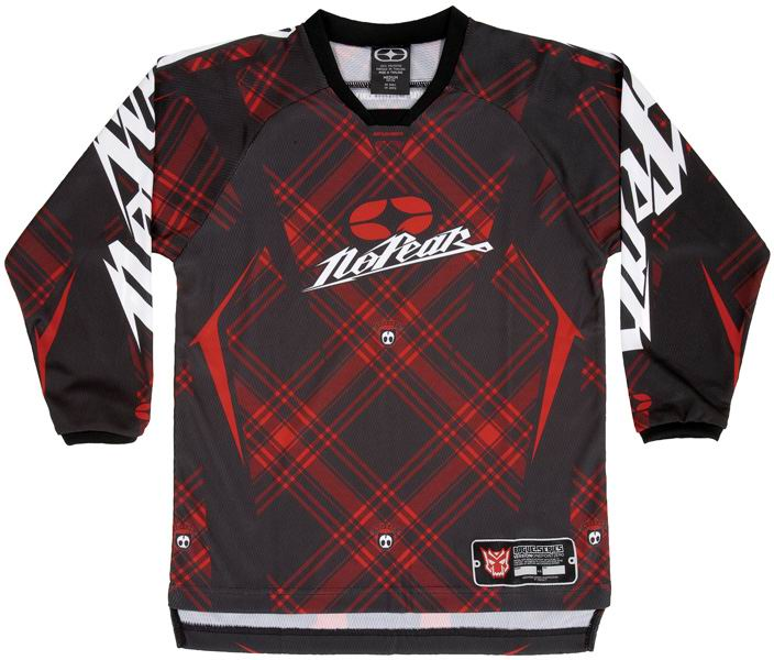 NO FEAR Maillot KID Rogue Red Plaid ref 7002