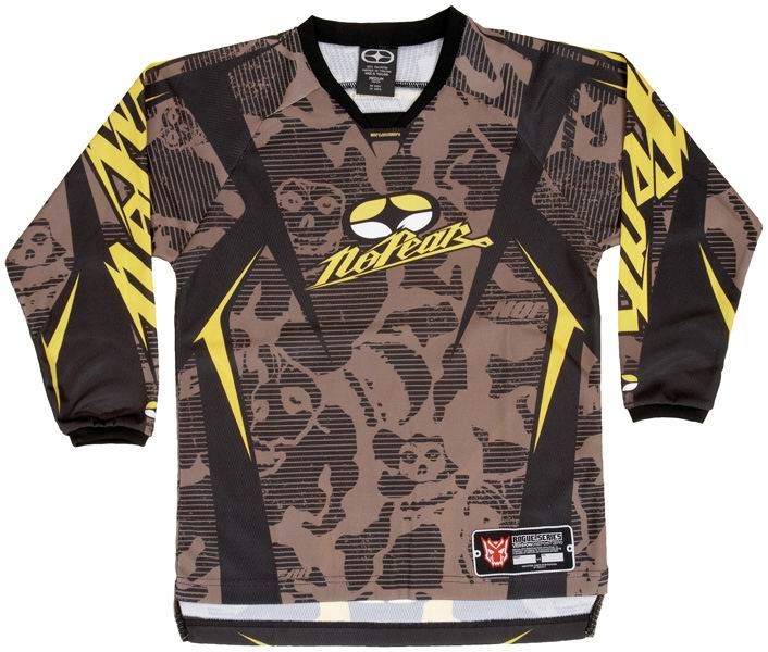 NO FEAR Maillot KID Rogue Yellow Skull ref 7002