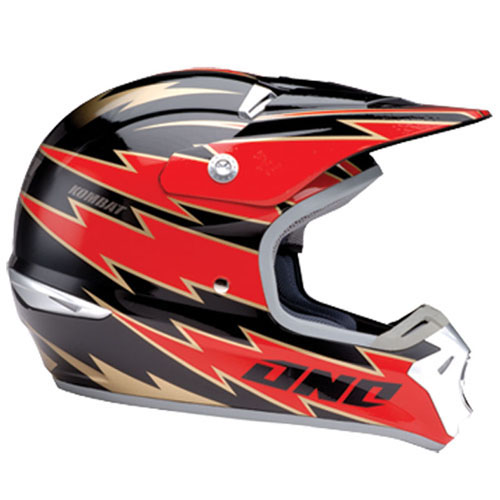 ONE Casque KOMBAT Flat Black Red 2006 taille XL