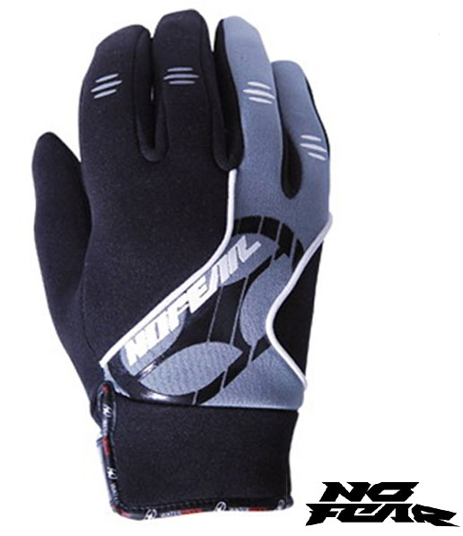 NO FEAR Gants WATERPROOF noir/gris