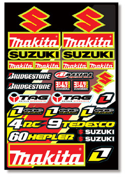 SUZUKI MAKITA planche de stickers