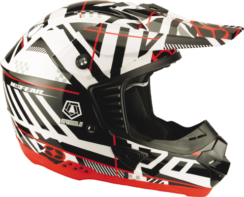 NO FEAR Casque Optimal 2 black white plaid