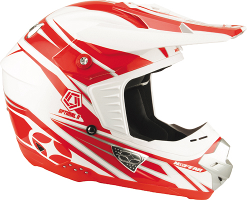 NO FEAR Casque Optimal 2  race red