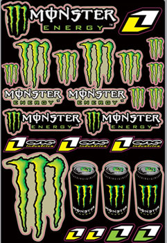 ONE MONSTER planche de stickers
