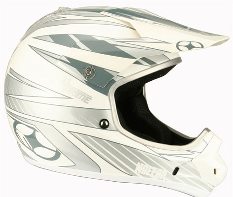NO FEAR Casque Prime race silver