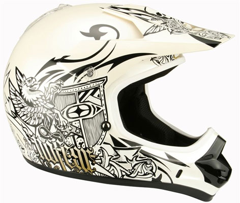 NO FEAR Casque Prime race white tatoo