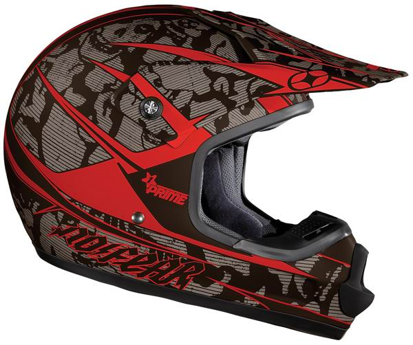 NO FEAR Casque kid Prime Race Red Skull