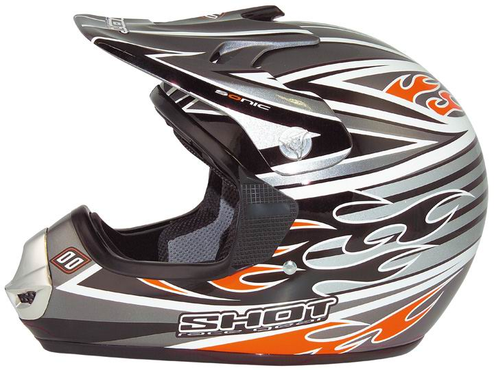 SHOT Casque SONIC Noir/Silver/orange