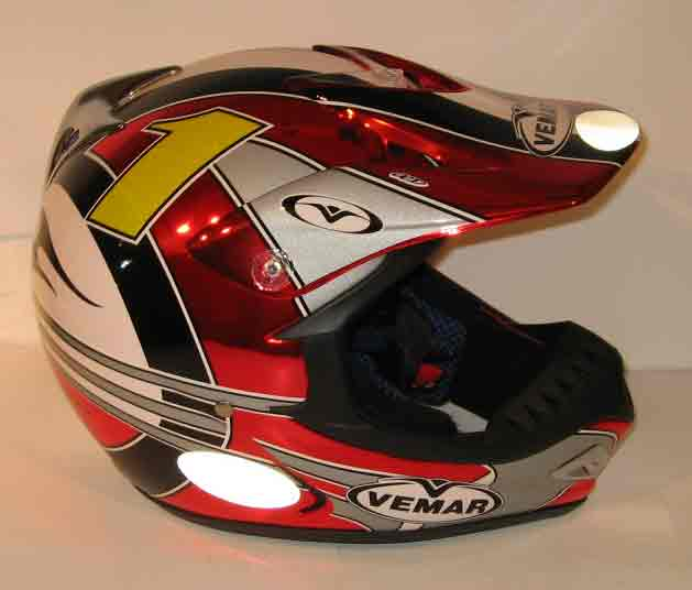 VEMAR Casque VRX4 Bolley Replica - Rouge/Chrome