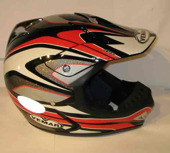 VEMAR Casque VRX5 - Rouge/Blanc/Silver